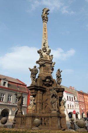Baroque plague column in Jaromer