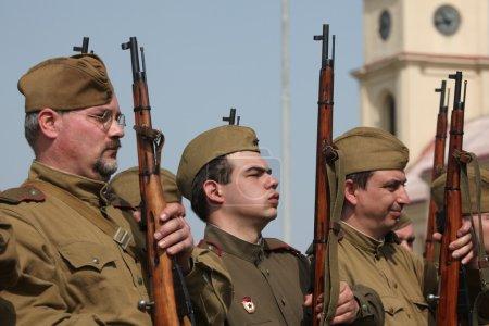 Re-enactment of  WWII Battle,Orechov