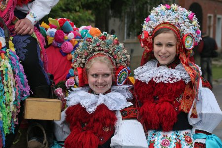 Folklore festival in Vlcnov, Czech Republic