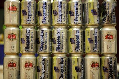 Belgian beer Hoegaarden and Stella Artois