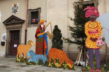 Nativity scene in Prague, Czech Republic.