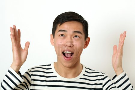 Funny young Asian man