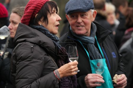 Young wine celebration  in Prague