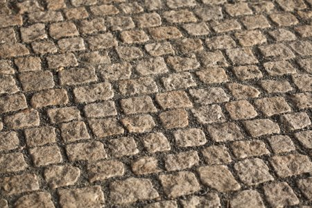 Cobbled pavement cubes texture