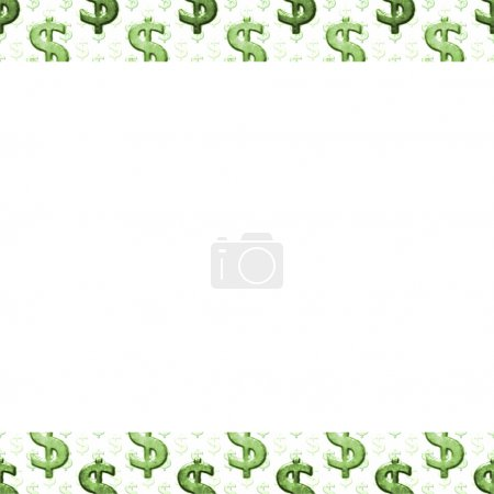White Background with Money Pattern Borders