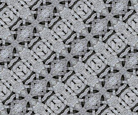 Photo pour Stone texutre ornament arabesque geometric pattern background digital art technique in gray and black tones - image libre de droit