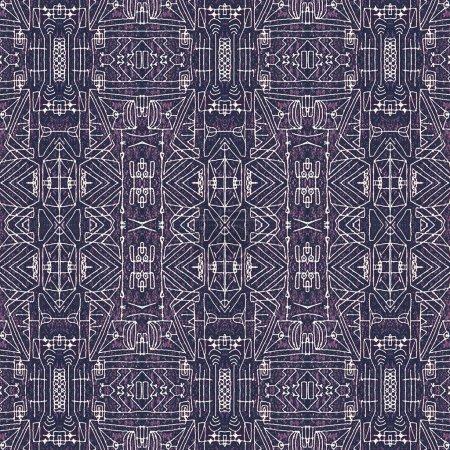 Seamless Tribal Background Pattern