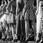 Fashion models on a runway