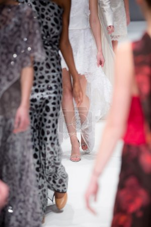 Photo for Fashion models on a catwalk - Royalty Free Image