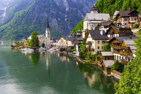 lake and beautiful village Halstatt