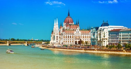 European landmarks - view of Parliament in Budapest, Hungary