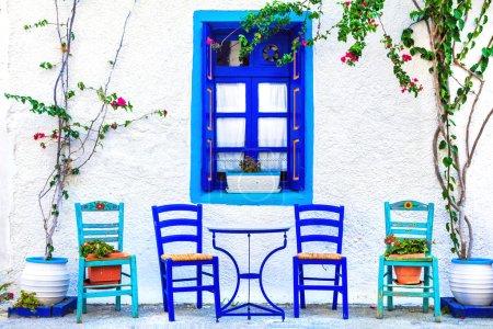Photo pour Tavernes traditionnelles en Grèce - image libre de droit