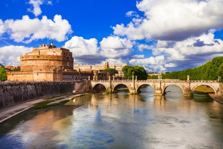 Photo for Beautiful Castle Sant ' Angelo ,Rome,Italy. - Royalty Free Image
