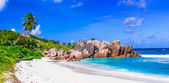 beautiful tropical  beach Anse Cocos, La Digue island, Seychelle