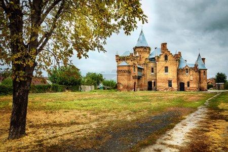pictorial autumn landscape with old castle. Ukraine, Zaporozhye