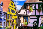 Riquewihr in France -romantic medieval city on the Alsace wine r