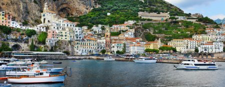 panorama of beautiful Amalfi. Italy