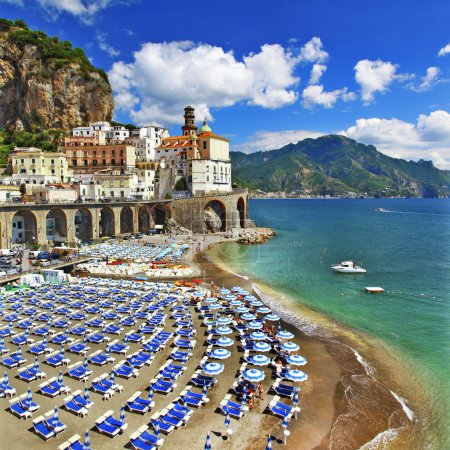 Italian holiadys - beautiful  coast of Amalfi - Atrani village