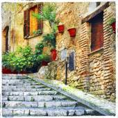 beautiful old villages of Italy, Casperia, artistic picture