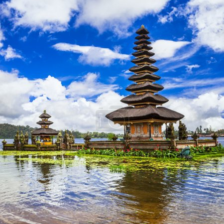 Spiritual Bali. Ulun Danu temple in  Bratan lake
