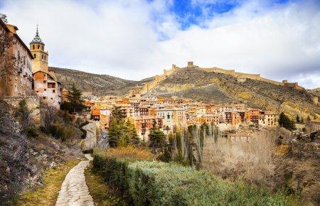 Albarracin  - medieval terracotte village in Aragon, Spain