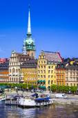 Stockholm, view with a canal and old town