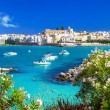 Otranto - beautiful town in Puglia. View with town...