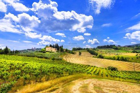 Photo pour Paysages de Toscane, Italie - image libre de droit
