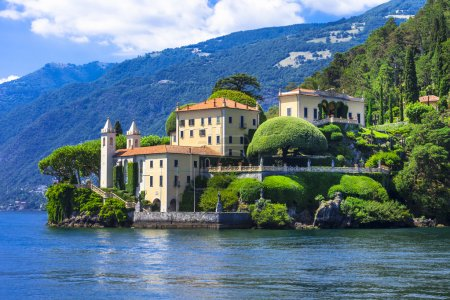 Photo for Beautiful landscapes of  lake Lago di Como. Lenno - Royalty Free Image