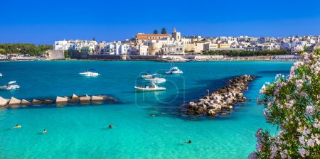 Italian holidays - beautiful Otranto with azure sea, in Puglia