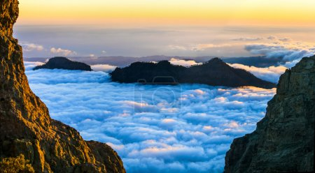 Sunset over clouds - Gran Canaria