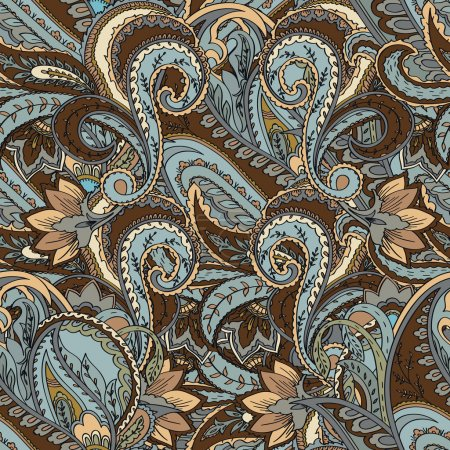Paisley background. Seamless pattern