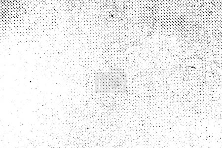 Illustration for Grunge real organic vintage halftone vector ink print background - Royalty Free Image