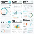 Human and people infographic vector elements in bl...