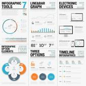 Infographic statistics business vector icons and elements