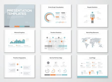 Illustration for Infographics presentation templates and business brochures - Royalty Free Image