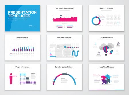 Illustration for Infographic presentation templates and business vector brochures - Royalty Free Image