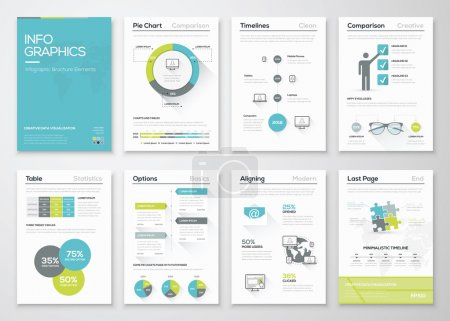 Illustration for Fresh infographics vector concept. Business graphics brochures - Royalty Free Image