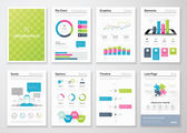 Flyer infographics and brochure templates vector illustrations