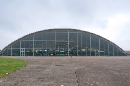 Front view of Duxford American Air Museum...