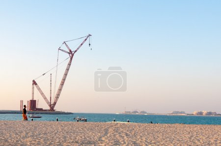 Dubai Eye Ferris wheel construction site