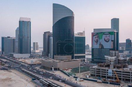 Streets of Dubai skyscraper Modern buildings of Dubai
