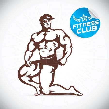 Attractive Bodybuilder illustration