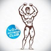 Attractive Bodybuilder illustration