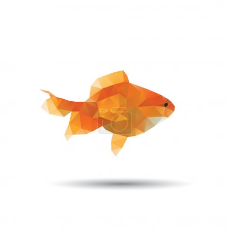 Golden fish abstract isolated on a white backgroun...