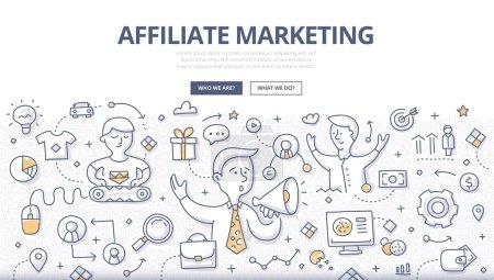 Affiliate Marketing Doodle Concept