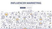 Influencer Marketing Doodle Concept