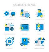 Ploché ikony zkušenosti uživatelů