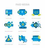 Paid Media Flat Icons