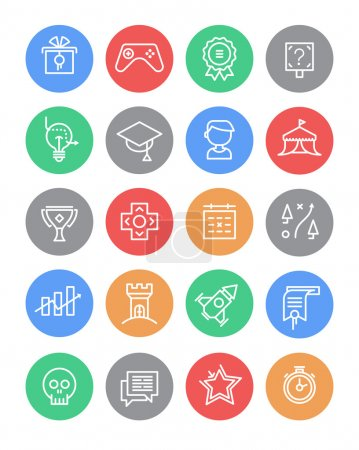Set of Gamification Icons